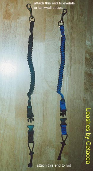 leashes for teathering gear