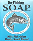 De-Fishing Soap removes even the most stubborn odors